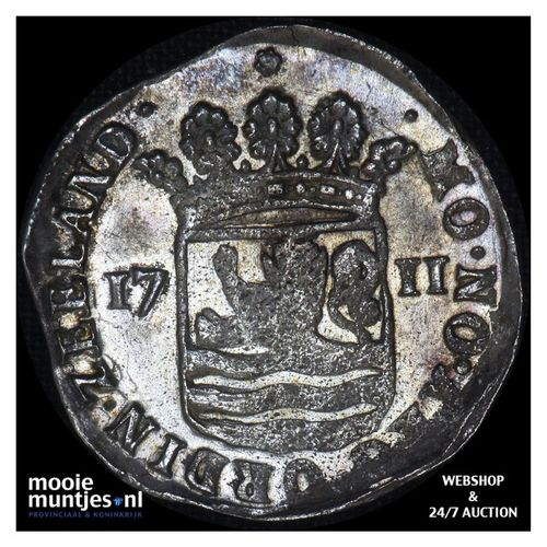 Zeeland - Hoedjesschelling - 1711 (kant A)