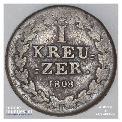 kreuzer - joint coinage - German States/Nassau 1808 (KM 10) (kant A)