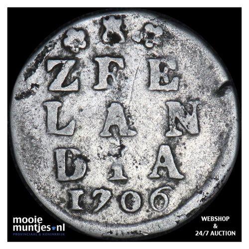 Zeeland - Dubbele wapenstuiver - 1706 (kant A)