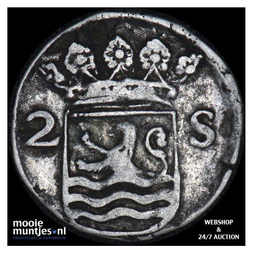 Zeeland - Dubbele wapenstuiver - 1706 (kant B)