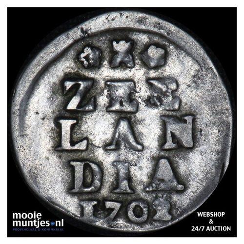 Zeeland - Dubbele wapenstuiver - 1702 (kant A)
