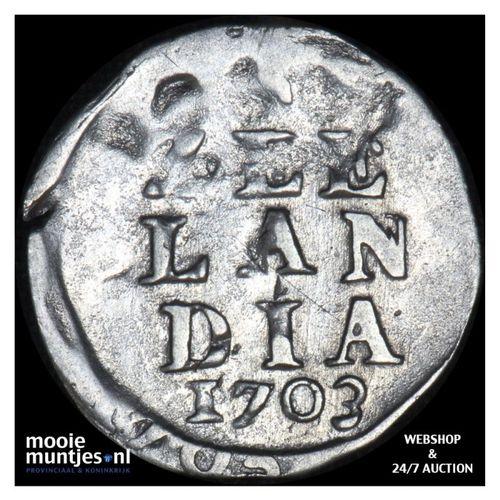 Zeeland - Dubbele wapenstuiver - 1703 (kant A)