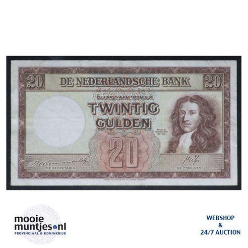 20 gulden - 1945 (Mev. 59-1 / AV 42) (kant A)