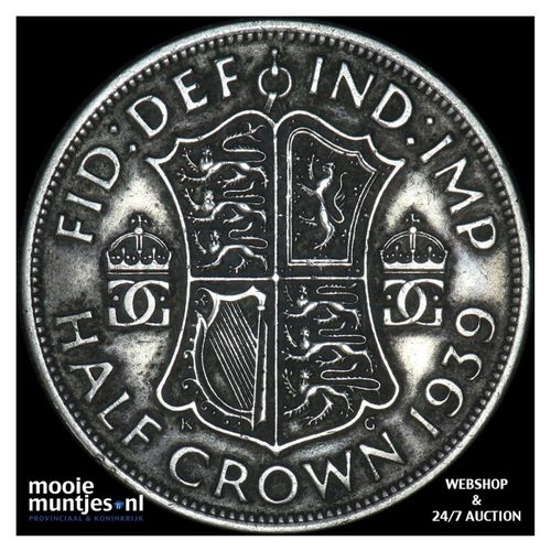 1/2 crown - Great Britain 1939 (KM 856) (kant A)