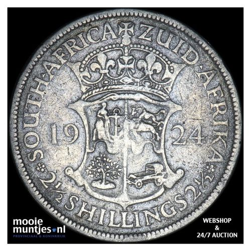 2-1/2 shillings - South Africa 1924 (KM 19.1) (kant A)