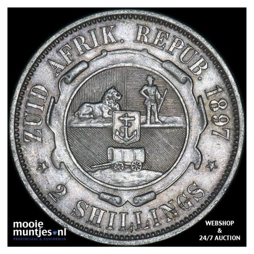 2 shillings - South Africa 1897 (KM 6) (kant A)