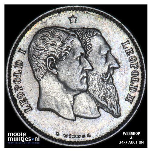 franc - Belgium 1880 (KM 38) (kant B)