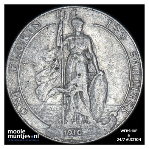 florin (two shillings) - Great Britain 1910 (KM 801) (kant A)