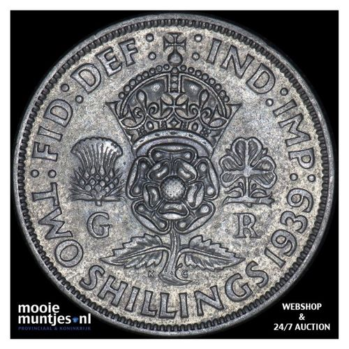 florin (two shillings) - Great Britain 1939 (KM 855) (kant A)