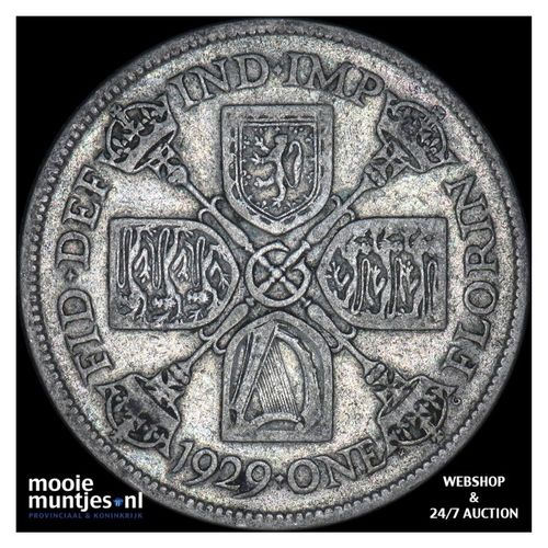 florin (two shillings) - Great Britain 1929 (KM 834) (kant A)