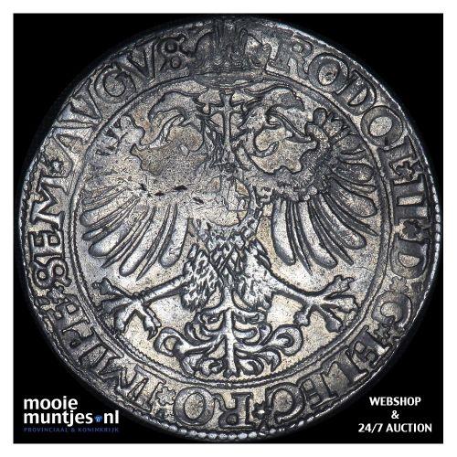 Driesteden - Gehelmde rijksdaalder   - 1580 (kant B)