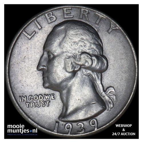 quarter - Washington - United States of America 1939 (KM 164) (kant A)