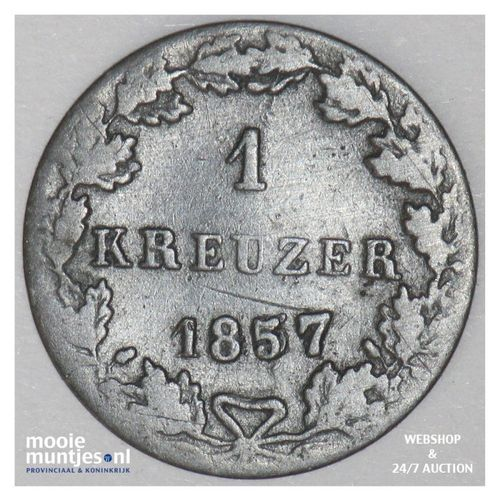 kreuzer - German States/Frankfurt am Main 1857 (KM 312) (kant A)