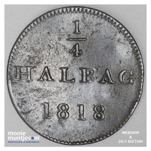 1/4 halbac - token coinage - German States/Frankfurt am Main 1818 (KM Tn3) (kant