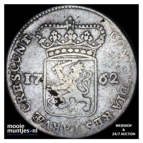 Zeeland - Halve zilveren dukaat - 1762 (kant A)