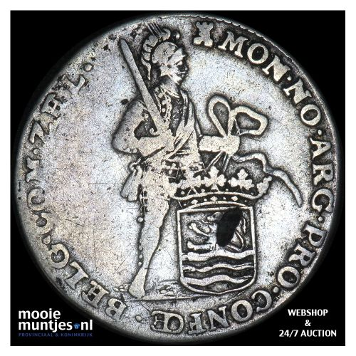 Zeeland - Halve zilveren dukaat - 1762 (kant B)