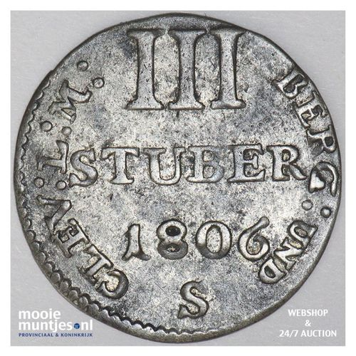 3 stuber - grand duchy - German States/Berg 1806 S (KM 10) (kant A)