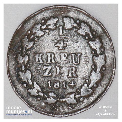 1/4 kreuzer - joint coinage - German States/Nassau 1814 (KM 9) (kant A)