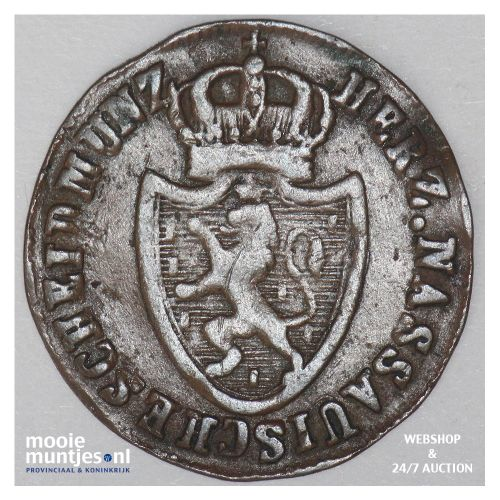 1/4 kreuzer - joint coinage - German States/Nassau 1814 (KM 9) (kant B)
