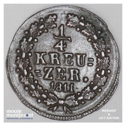 1/4 kreuzer - joint coinage - German States/Nassau 1811 (KM 9) (kant A)