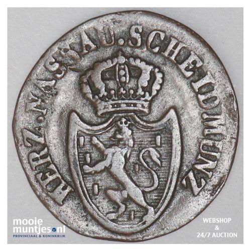 1/4 kreuzer - joint coinage - German States/Nassau 1811 (KM 9) (kant B)