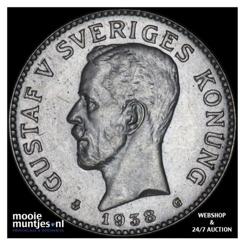 2 kronor - Sweden 1938 (KM 787) (kant A)