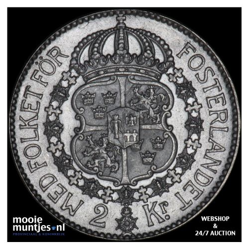 2 kronor - Sweden 1938 (KM 787) (kant B)