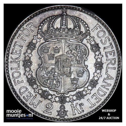 2 kronor - Sweden 1936 (KM 787) (kant B)