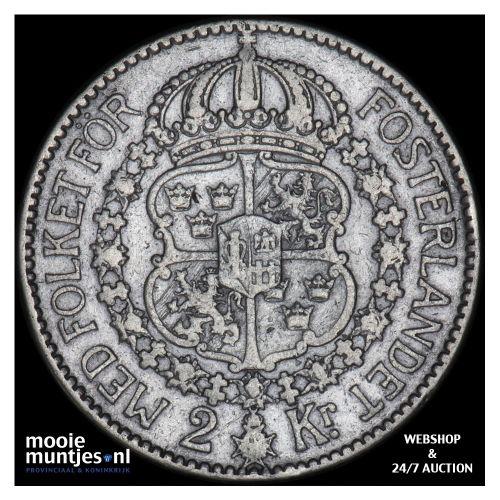 2 kronor - Sweden 1914 (KM 787) (kant B)