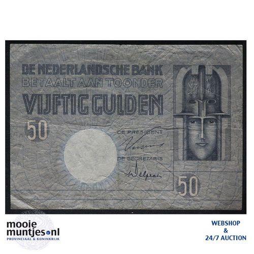 50 gulden - 1929 (Mev. 96-1b / AV 64) (kant A)