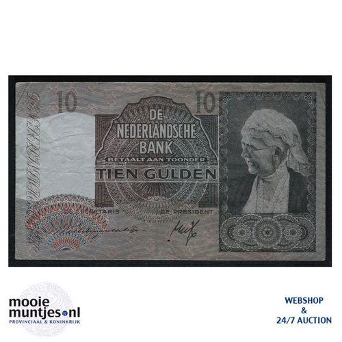 10 gulden  - 1940 (Mev. 41-1 / AV 30) (kant A)