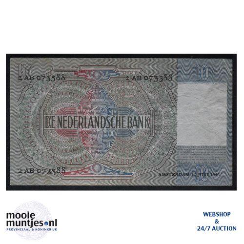 10 gulden  - 1940 (Mev. 41-1 / AV 30) (kant B)