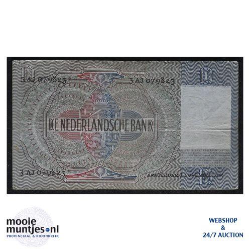 10 gulden  - 1940 (Mev. 42-1 / AV 31) (kant B)
