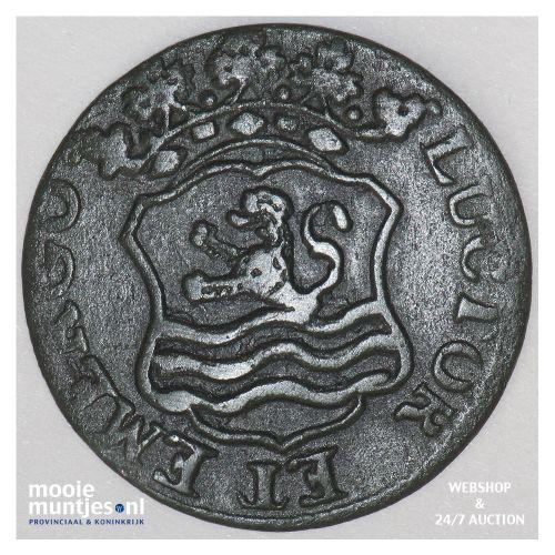 Zeeland - Duit - 1758 (kant B)