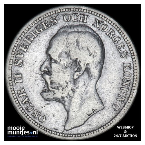 2 kronor - Sweden 1900 (KM 761) (kant B)