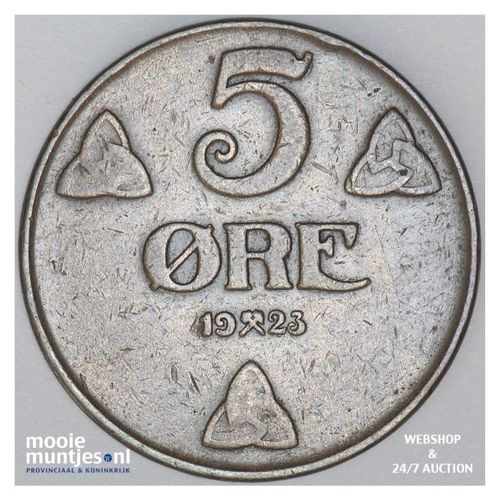5 ore - Norway 1923 (KM 368) (kant A)