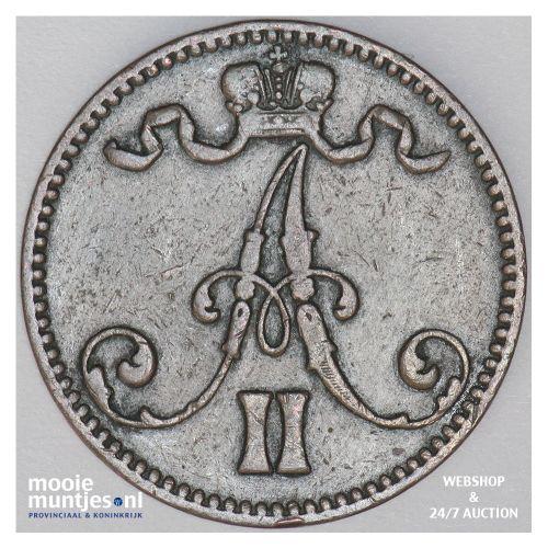 5 pennia - grand duchy - Finland 1867 (KM 4.1) (kant B)