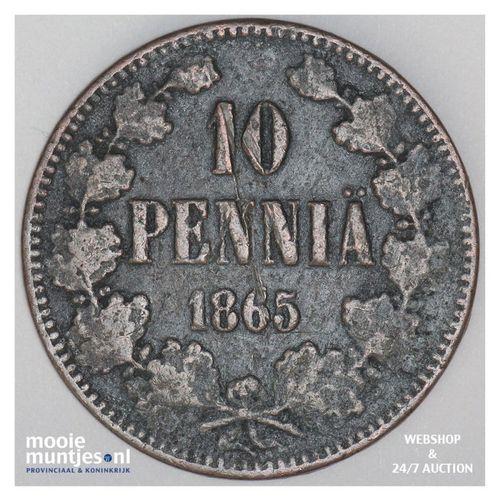 10 pennia - grand duchy - Finland 1865 (KM 5.1) (kant A)