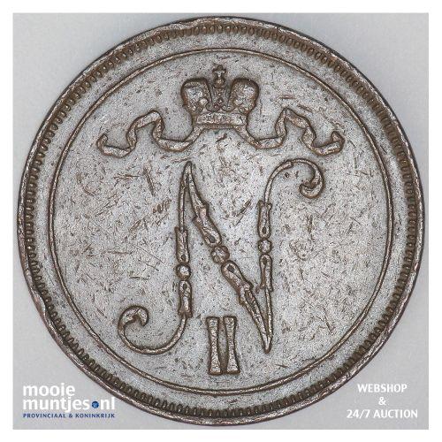 10 pennia - grand duchy - Finland 1907 (KM 14) (kant B)