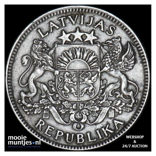 lats - first republic - Latvia 1924 (KM 7) (kant B)