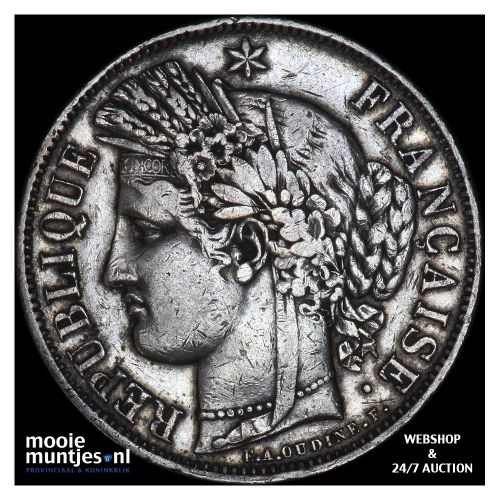 5 francs - France 1850 A (Paris) (KM 761.1) (kant B)