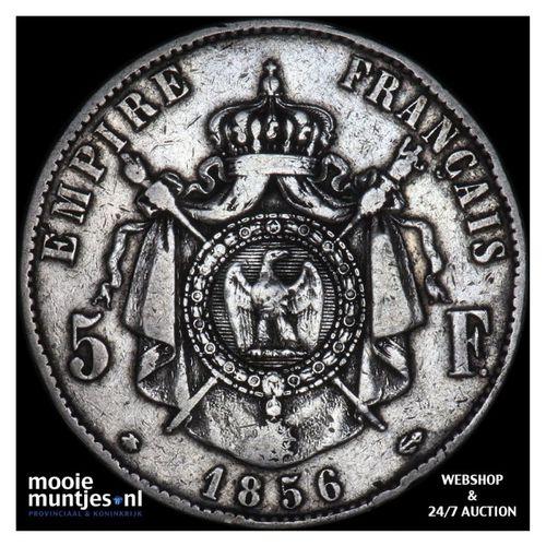 5 francs - France 1856 BB (Strasbourg) (KM 782.2) (kant A)