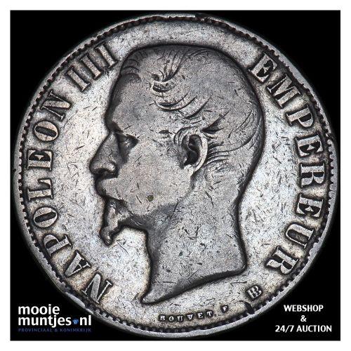 5 francs - France 1856 BB (Strasbourg) (KM 782.2) (kant B)