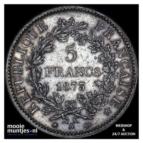 5 francs - France 1875 A (Paris) (KM 820.1) (kant A)