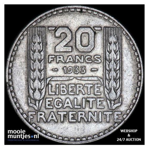 20 francs - France 1933 (KM 879) (kant A)