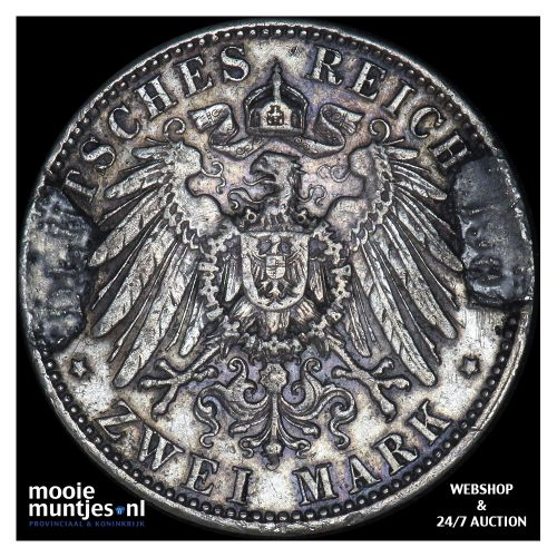 2 mark - German States/Prussia 1901 (KM 525) (kant B)