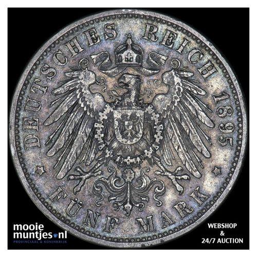 5 mark - reform coinage - German States/Bavaria 1895 (KM 915) (kant A)