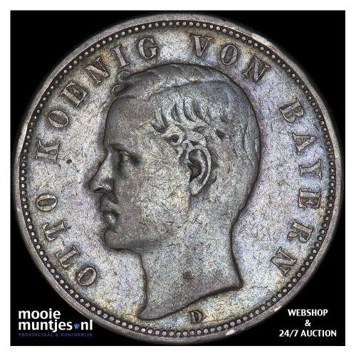5 mark - reform coinage - German States/Bavaria 1895 (KM 915) (kant B)