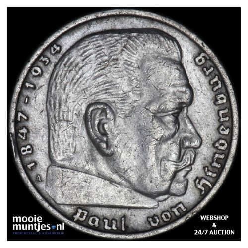 5 reichsmark - Germany-Third Reich 1936 A (KM 86) (kant B)