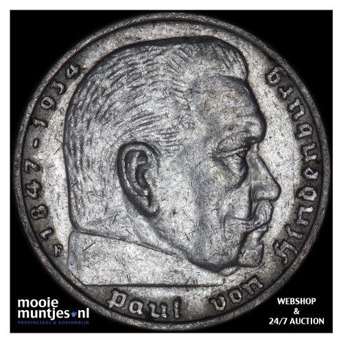 5 reichsmark - Germany-Third Reich 1936 F (KM 86) (kant B)